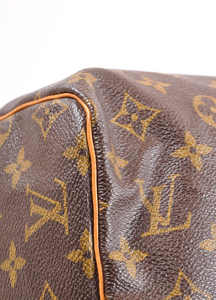 "Louis Vuitton Monogram Canvas ""Speedy 30"" Handbag Detail"