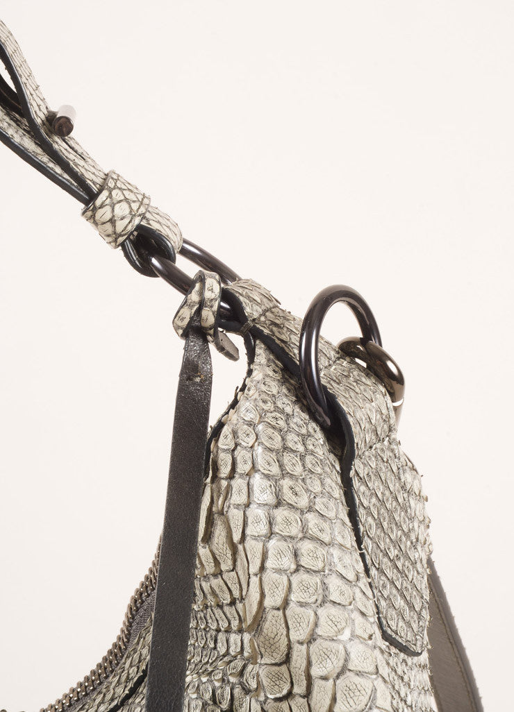 Reed Krakoff Grey Snakeskin Hobo Bag Detail 2