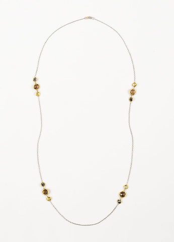 Tacori Sterling Silver, 18K Gold, Quartz, and Hematite Midnight Sun Necklace Frontview