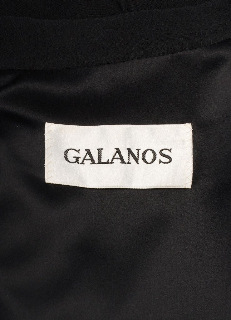 Galanos Black Long Sleeve Jacket Brand