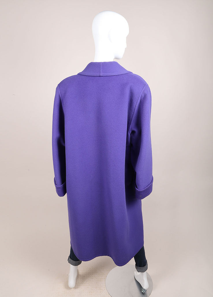 Valentino Purple Oversized Long Coat Backview
