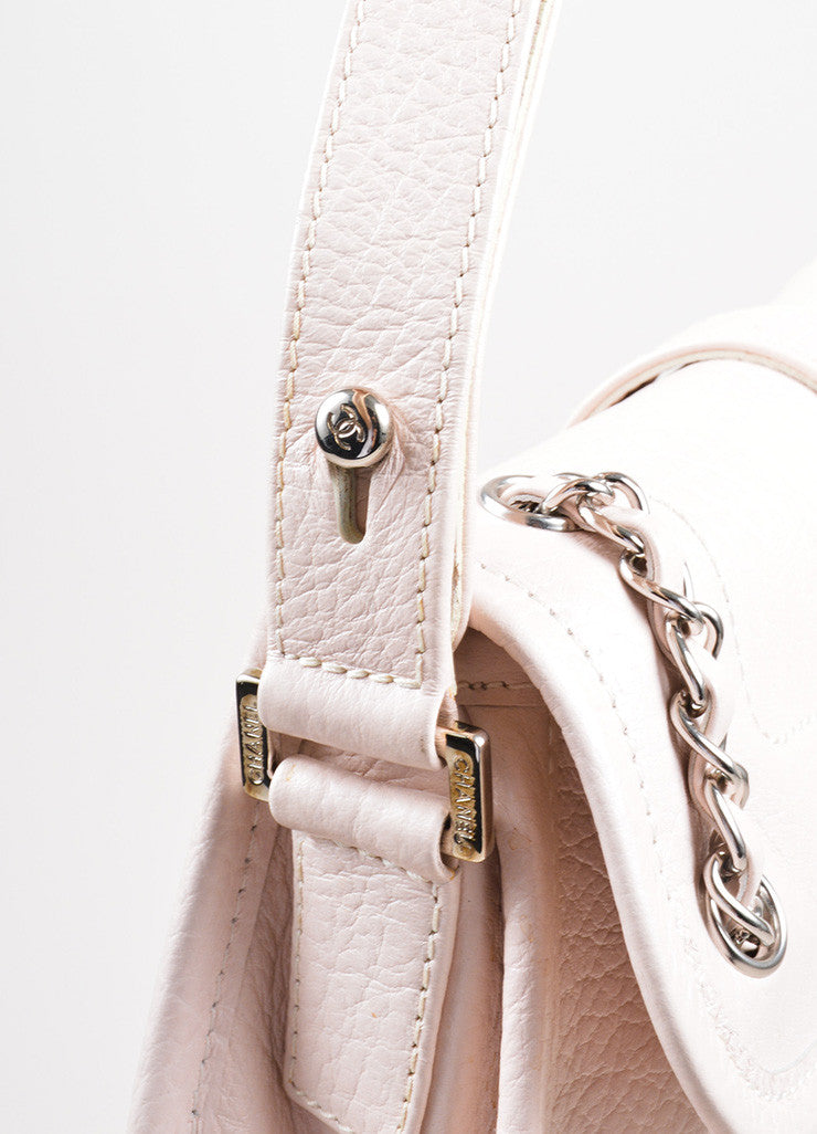 Blush Pink Chanel Reissue Chain Detail Shoulder Bag Detail 2