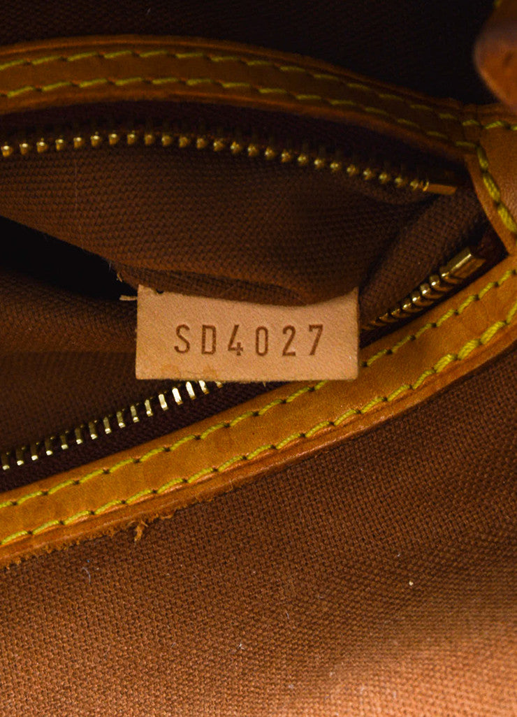 "Louis Vuitton Brown Canvas and Leather Monogram ""Batignolles Horizontal"" Bag Date Code"