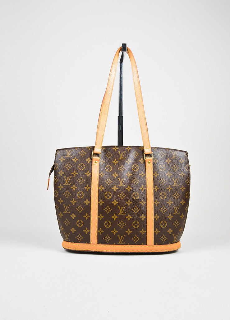 "Brown Louis Vuitton Canvas Monogram ""Babylone"" Tote Front"