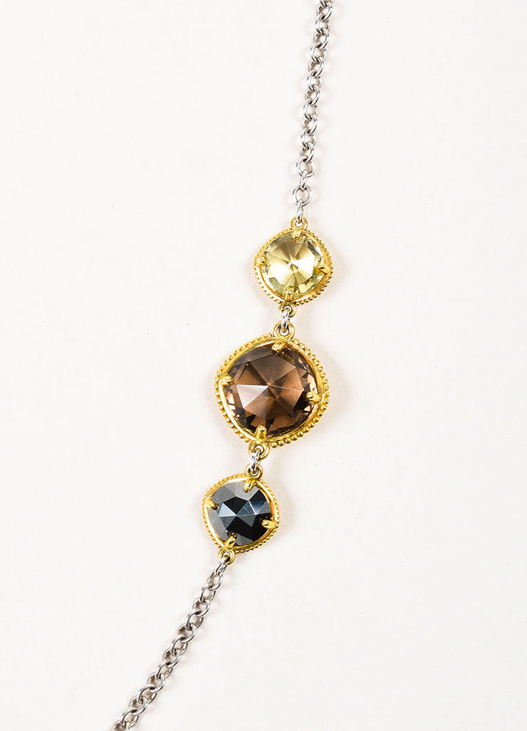 Tacori Sterling Silver, 18K Gold, Quartz, and Hematite Midnight Sun Necklace Detail 2