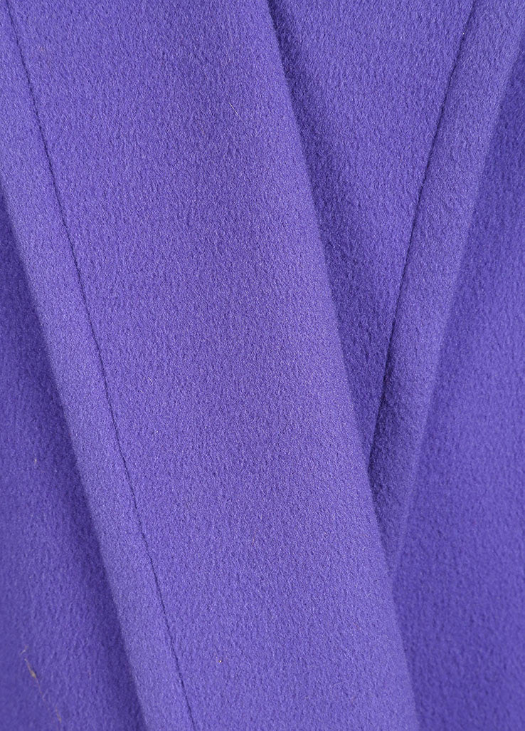 Valentino Purple Oversized Long Coat Detail