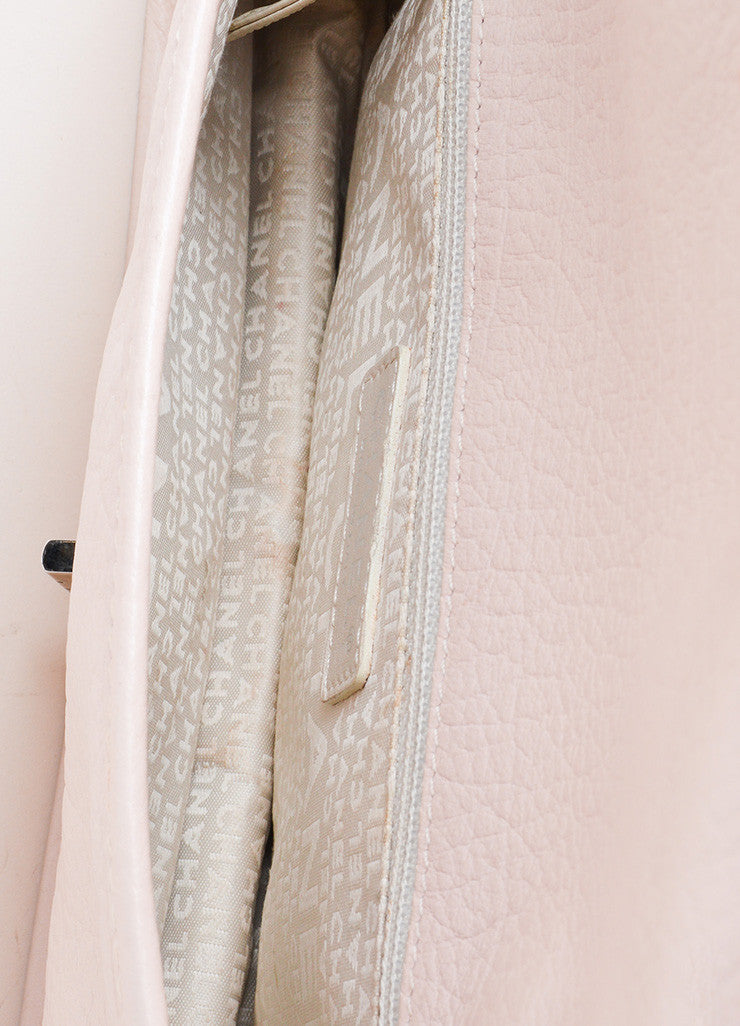 Blush Pink Chanel Reissue Chain Detail Shoulder Bag Interior