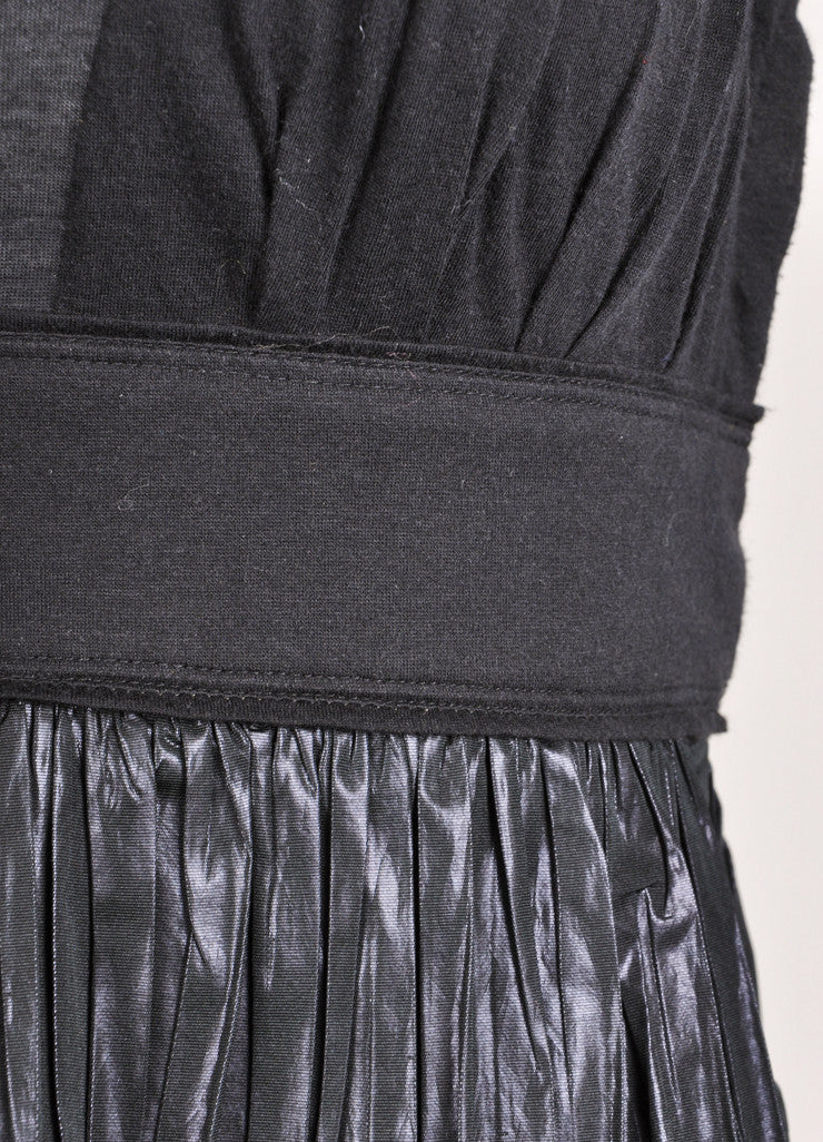 Louis Vuitton Black Knit Coated Detail Sheer Sleeveless Top Detail