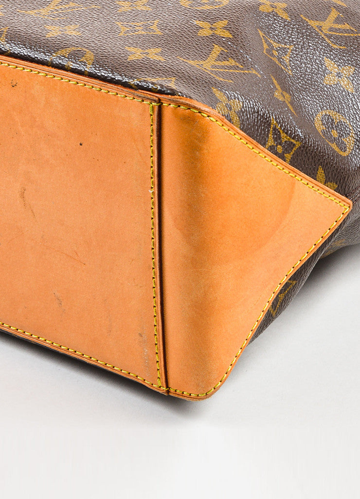 "Louis Vuitton Brown Monogram Coated Canvas ""Cabas Piano"" Bag Detail 2"