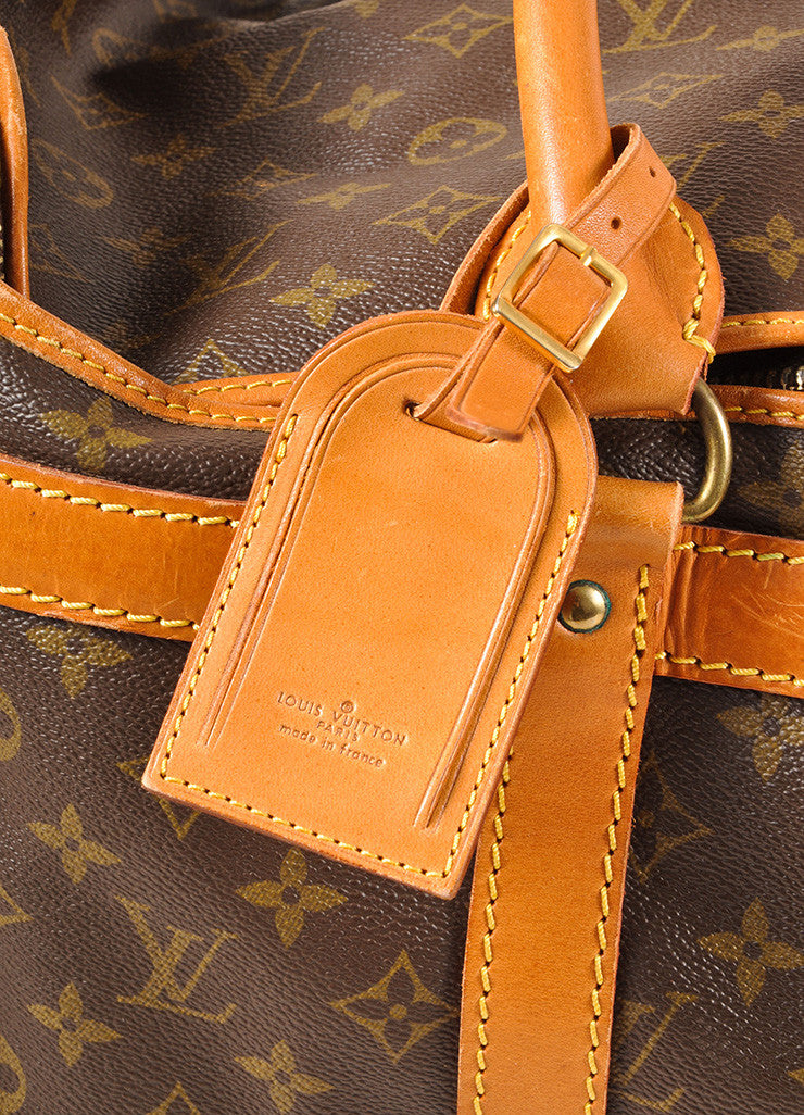 Louis Vuitton Brown Coated Canvas Monogram Hard Case Zip Duffel Bag Detail 2