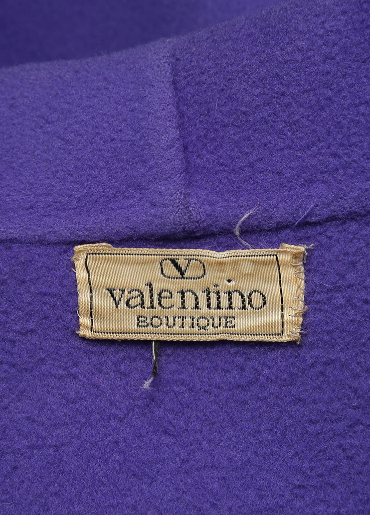 Valentino Purple Oversized Long Coat Brand