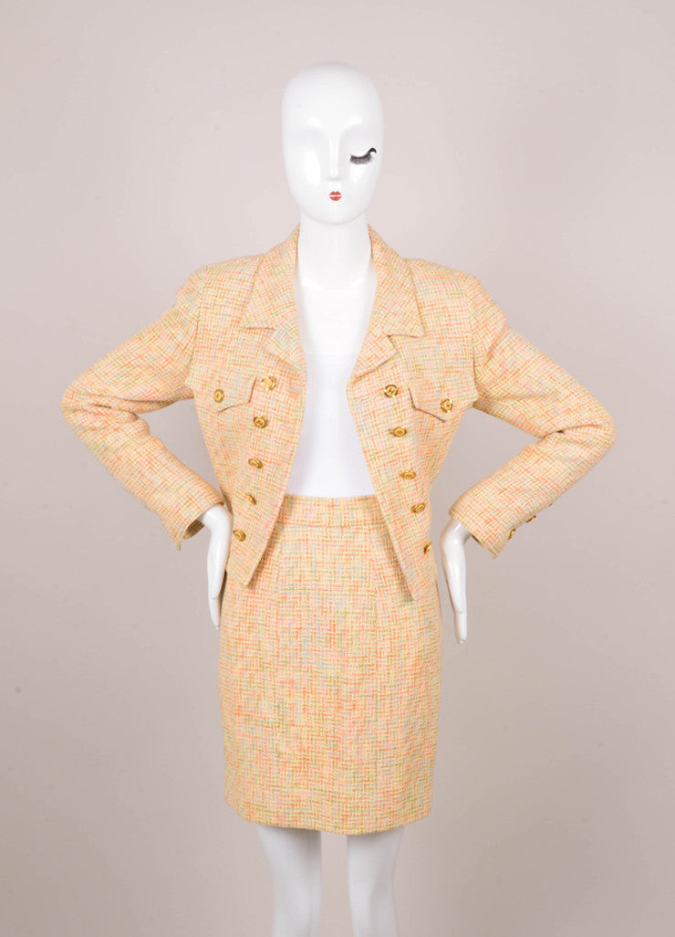 Chanel Multicolored Knit Skirt Suit