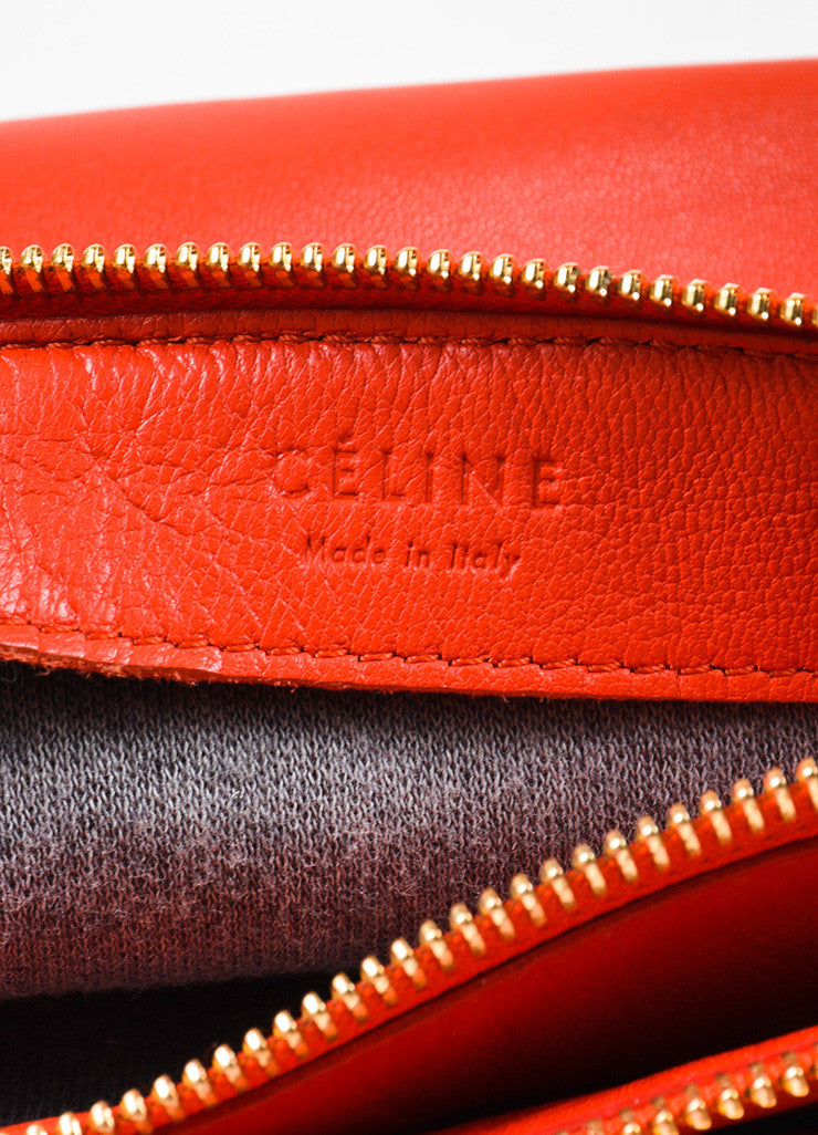 "Celine Red Lambskin Leather ""Trio"" Crossbody Bag Brand"
