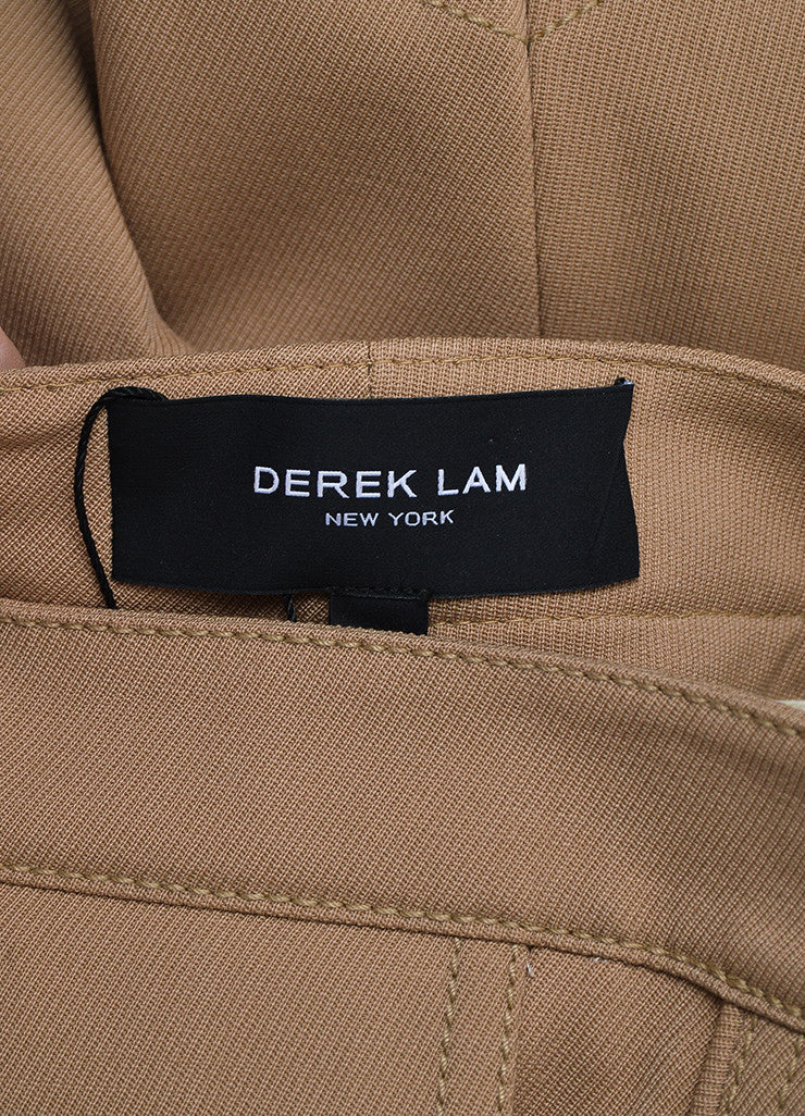 "Tan Derek Lam Camel Wool Suede Panel ""Jodphur"" Riding Pants Brand"