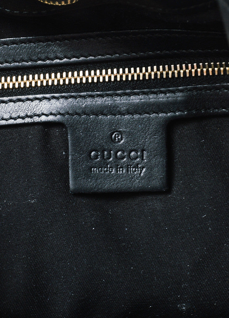 "Black Leather Gucci ""85th Anniversary Bridle Bit Hobo"" Flat Shoulder Bag Brand"