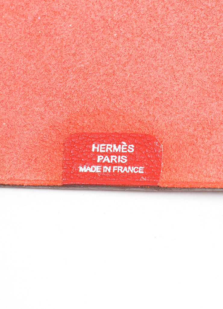 "Red Togo Leather Hermes ""Ulysse MM"" Snap Agenda with Paper Brand"