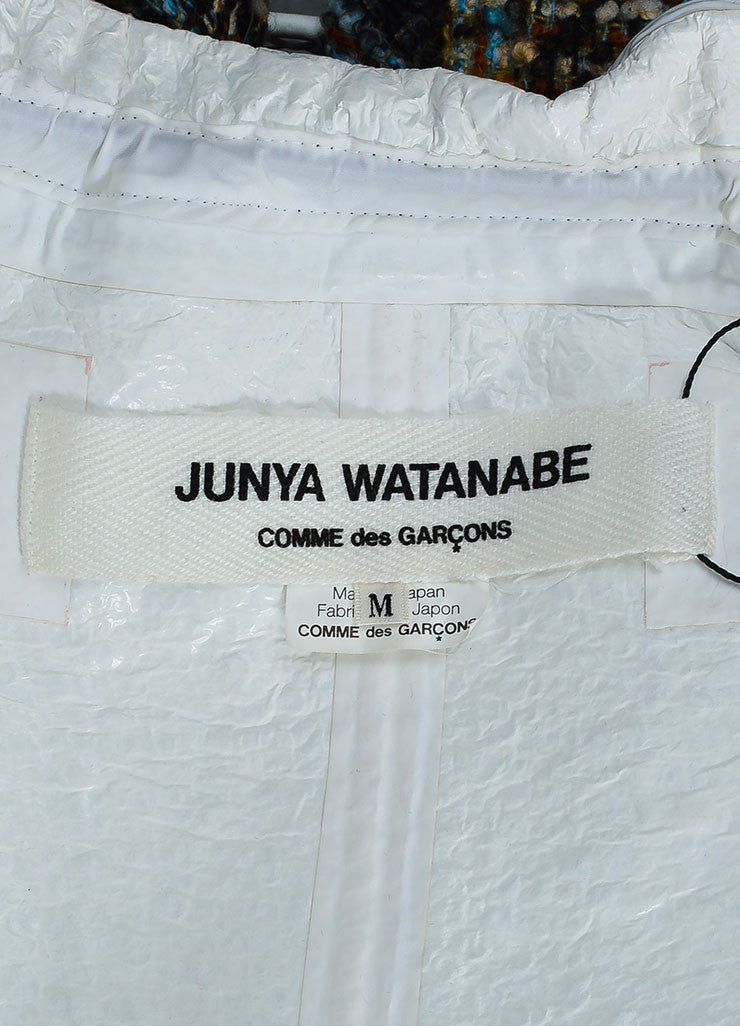 Junya Watanabe Comme des Garcons Multicolor Wool Tweed Belted Coat Brand