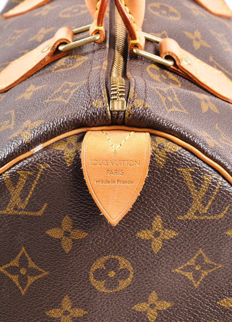"Louis Vuitton Monogram Canvas ""Speedy 30"" Handbag Brand"
