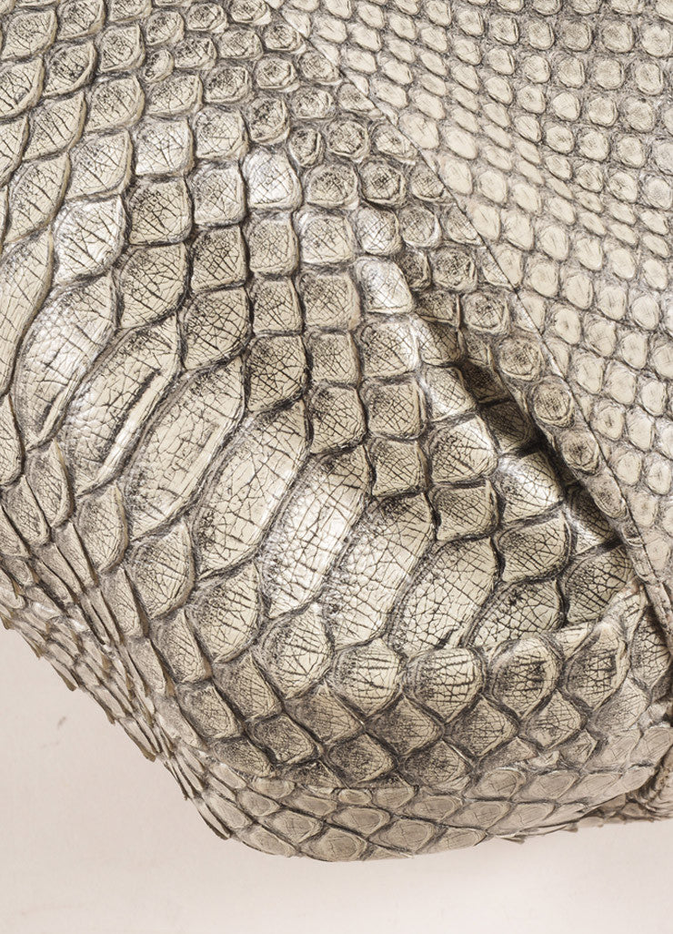 Reed Krakoff Grey Snakeskin Hobo Bag Detail