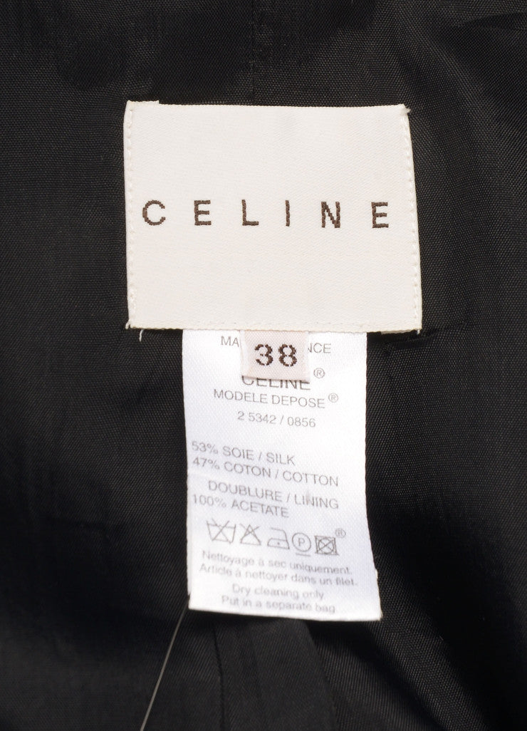 Celine Black and Nude Silk and Cotton Lace Embroidered Blazer Brand