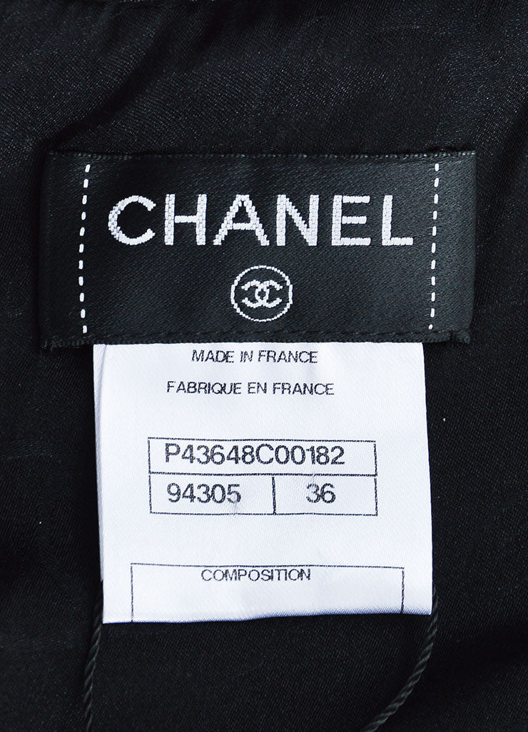 Chanel Black Leather Straight Neck Strapless Corset Top Brand