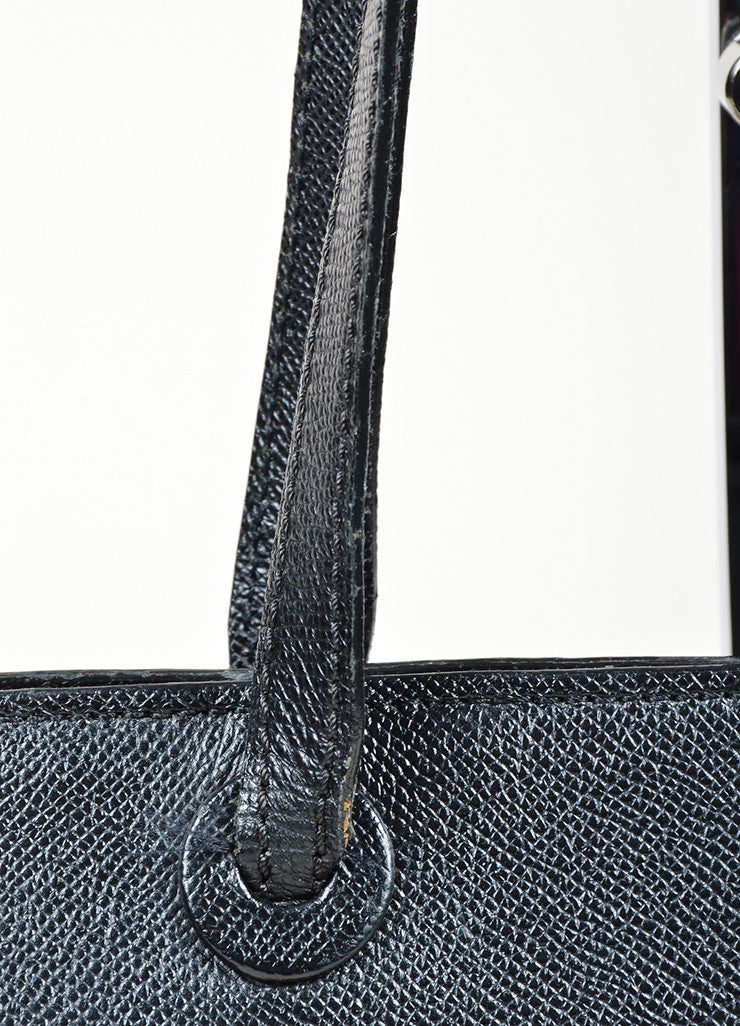 "Chanel ""Marron Fonce"" Black Caviar Leather Shoulder Bag Detail 2"