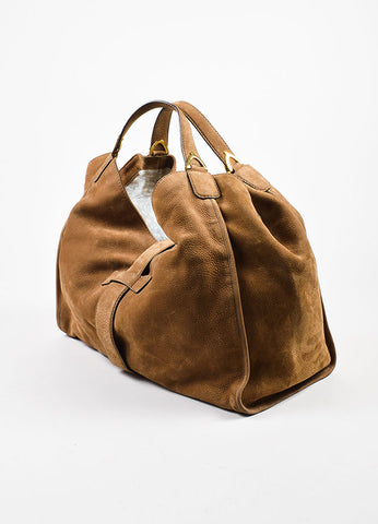 "Gucci Tan Leather ""Soft Stirrup"" Large Hobo Bag Sideview"