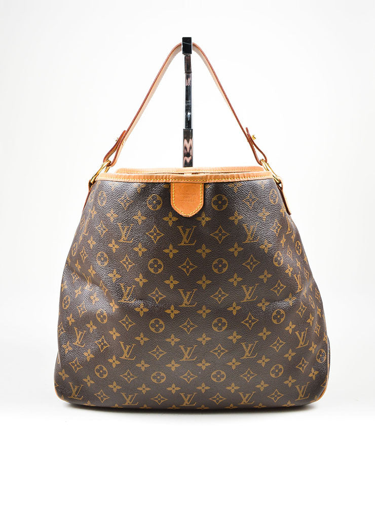 "Brown Louis Vuitton Monogram ""Delightful MM"" Tote Bag Front"