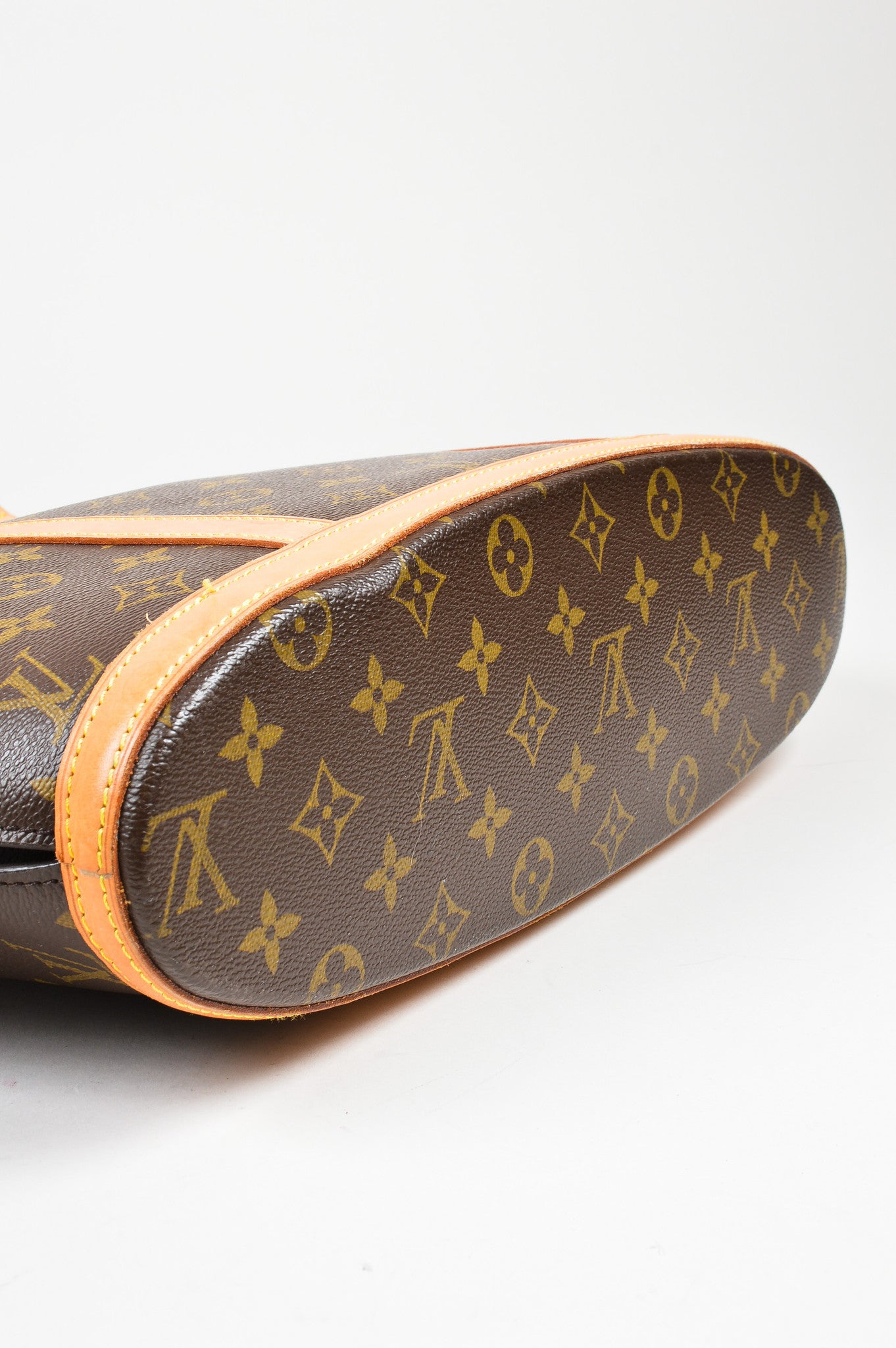 "Brown Louis Vuitton Canvas Monogram ""Babylone"" Tote Bottom"
