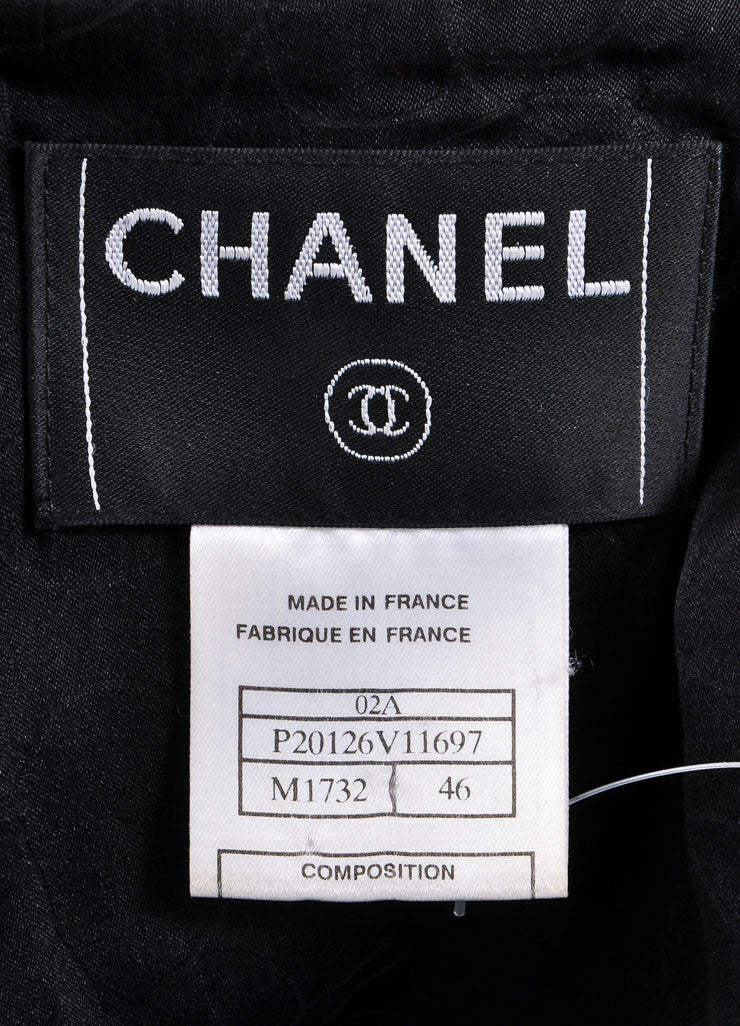 Chanel Dark Red and Black Wool Blend Metallic Woven Sequin Jacket Brand