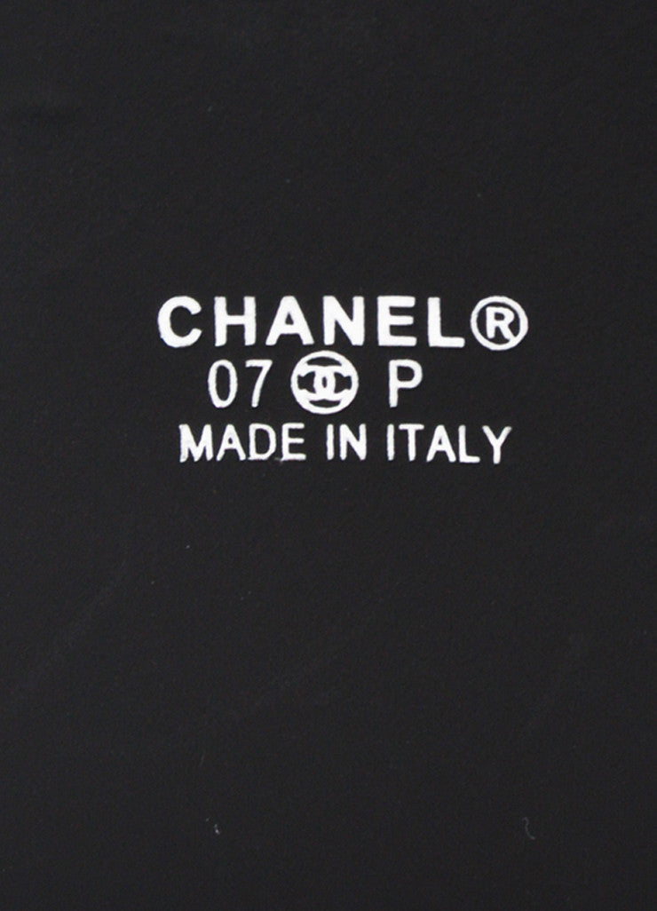 Chanel Black Crinkled Patent Leather Oversized 'CC' Logo Wide Belt Brand