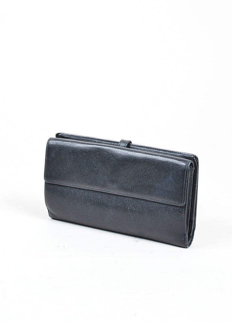 Black Chanel Leather Bifold Continental Wallet Back