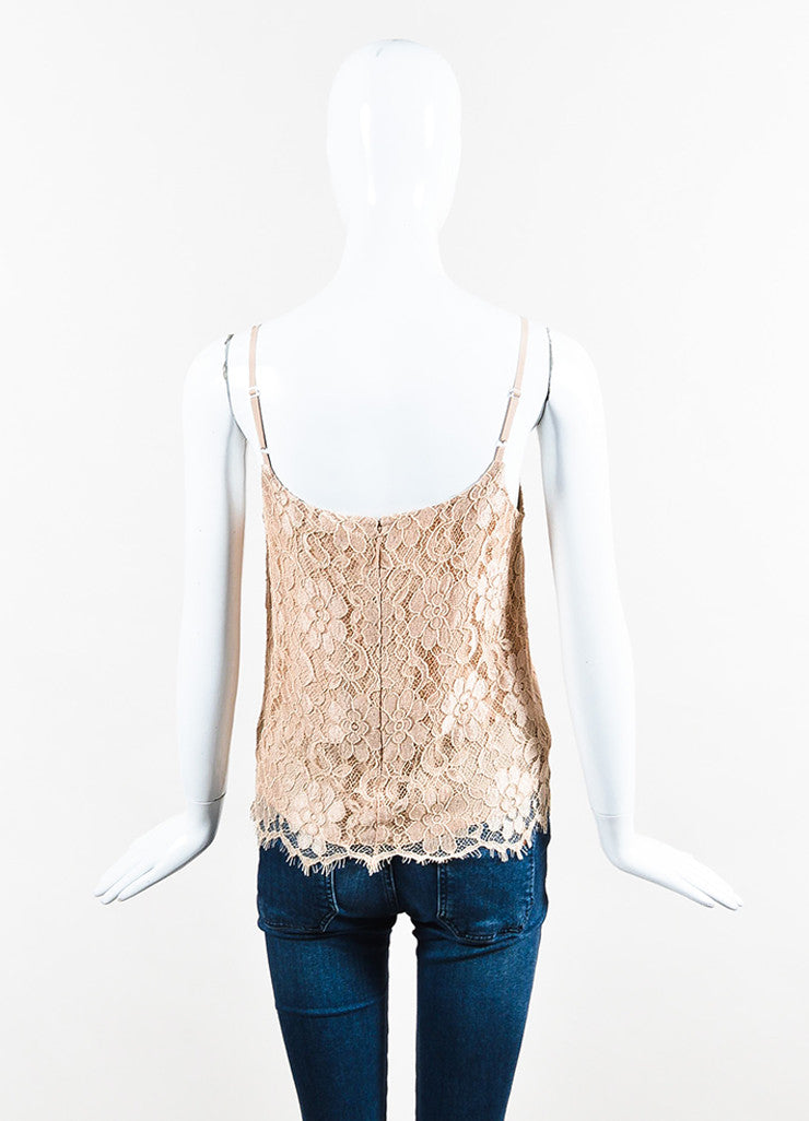 Nude Christopher Kane Floral Lace Rhinestone Camisole Tank Back