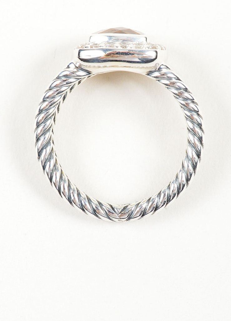 "Stering Silver, Citrine, and Diamond David Yurman ""Petite Albion"" Ring Topview"