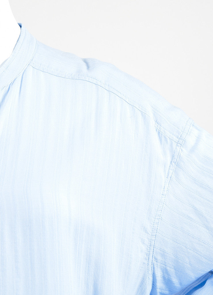 "Isabel Marant Etoile Light Blue Cotton ""Nita"" Long Sleeve Shirt Dress Detail"