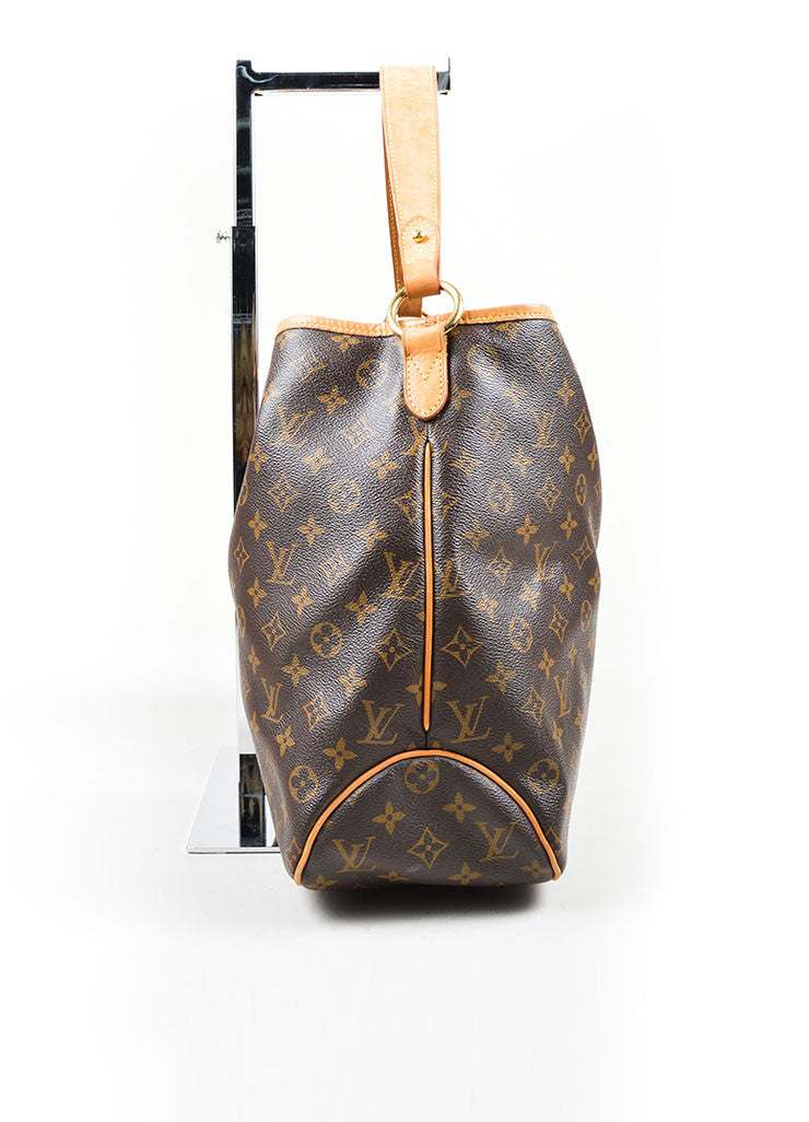 "Brown Louis Vuitton Monogram ""Delightful MM"" Tote Bag Side"