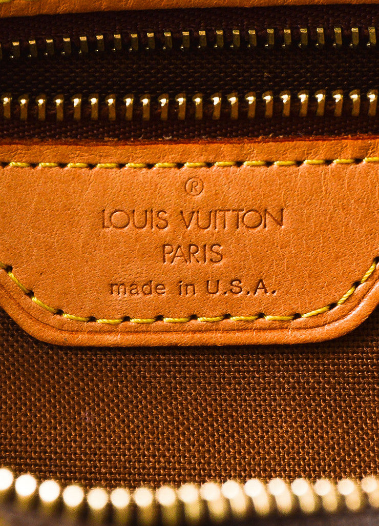 "Louis Vuitton Brown Monogram Coated Canvas ""Cabas Piano"" Bag Brand"