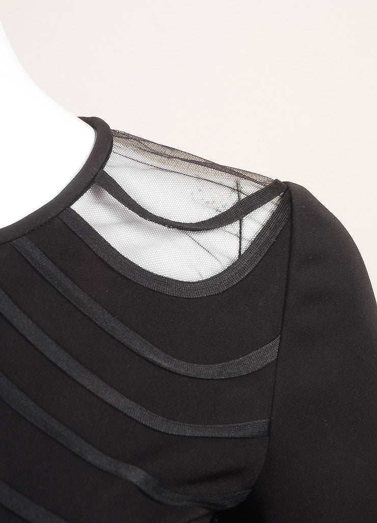 Stella McCartney New With Tags Black Wavy Stripe Long Sleeve Top Detail