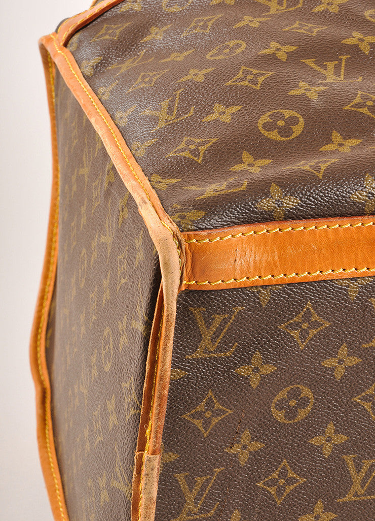 Louis Vuitton Brown Coated Canvas Monogram Hard Case Zip Duffel Bag Detail
