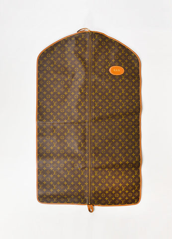 Louis Vuitton The French Luggage Co. Brown Leather and Canvas Garment Bag Frontview