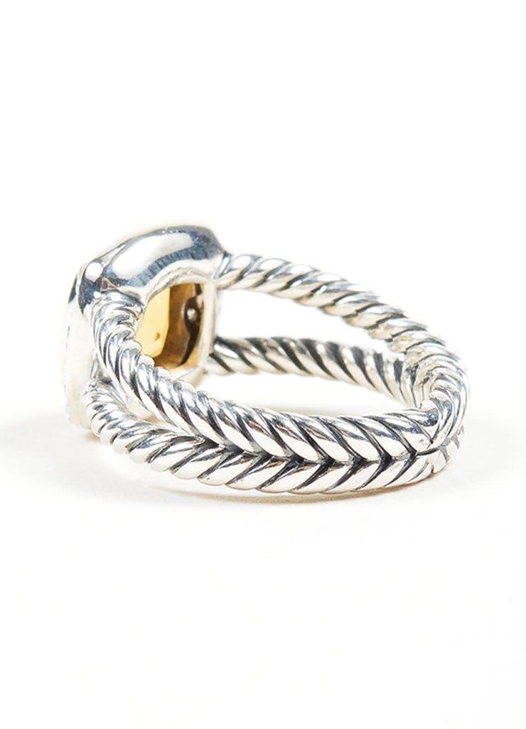 "Stering Silver, Citrine, and Diamond David Yurman ""Petite Albion"" Ring Sideview"