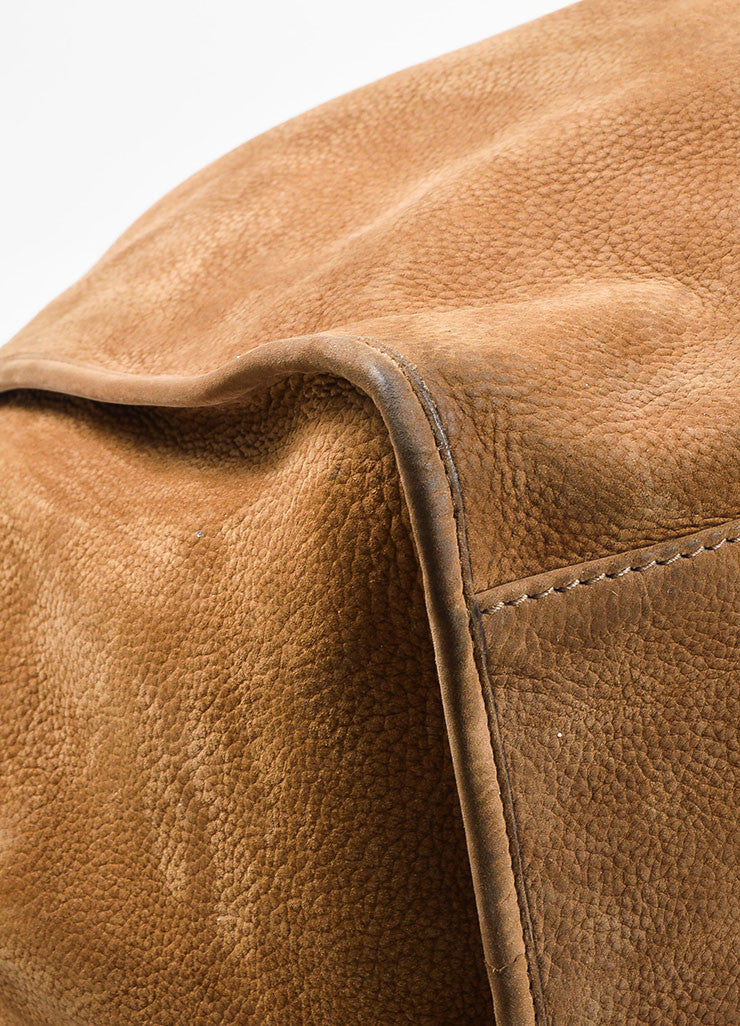 "Gucci Tan Leather ""Soft Stirrup"" Large Hobo Bag Detail"