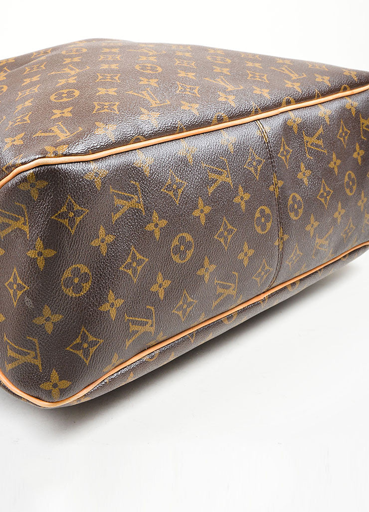 "Brown Louis Vuitton Monogram ""Delightful MM"" Tote Bag Bottom"