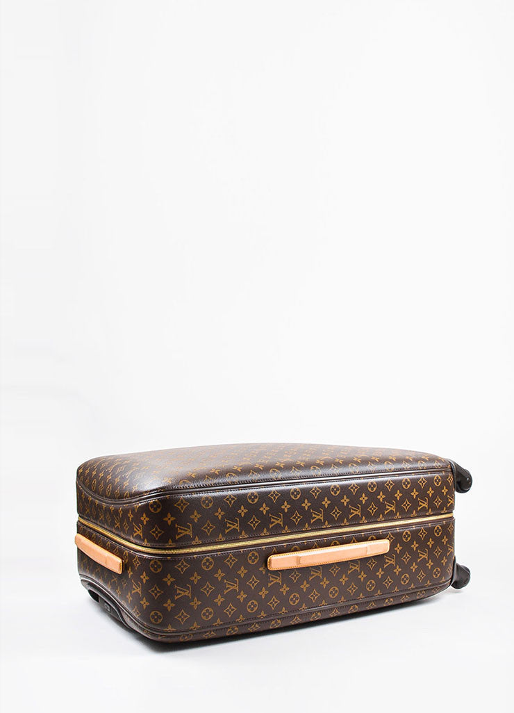"Louis Vuitton Brown Coated Canvas Monogram ""ZEPHYR 70"" Trolley Luggage Sideview 2"