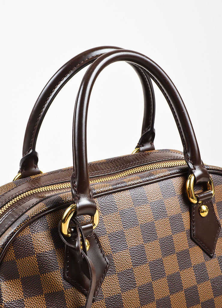 "Louis Vuitton Brown ""Ebene Damier"" Coated Canvas Checkered ""Duomo"" Satchel Bag Detail 2"