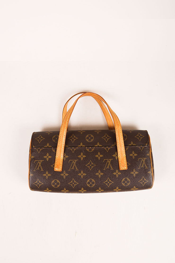 Louis Vuitton Brown Monogram Canvas Flap Handbag Backview
