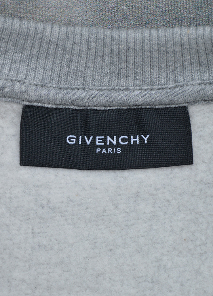 Men's Grey Givenchy Graphic Photo Print Sleeveless Sweatshirt Brand