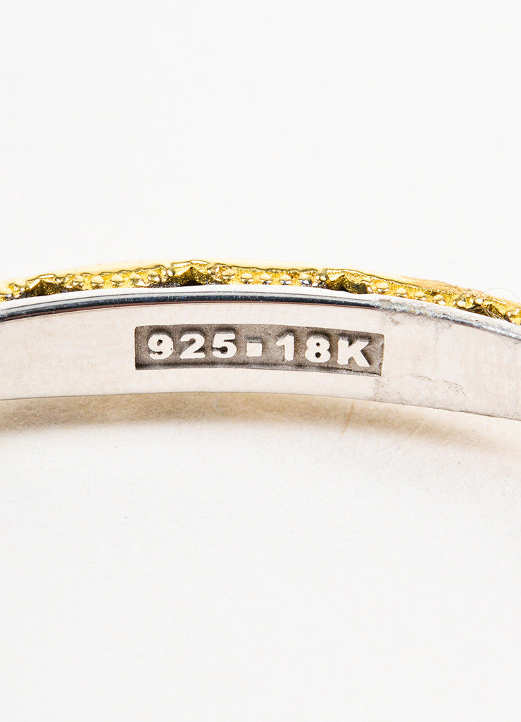 "Tacori Sterling Silver and 18K Gold ""Promise"" Lock and Key Bangle Bracelet Serial"
