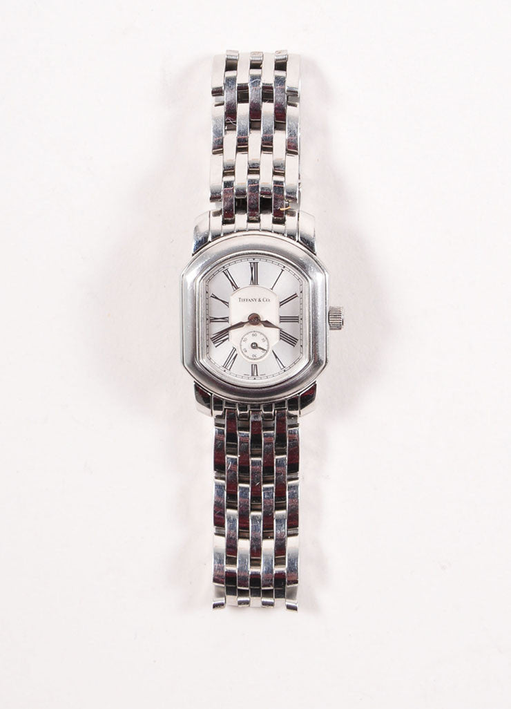 Tiffany & Co. Silver Toned Stainless Steel Watch Frontview