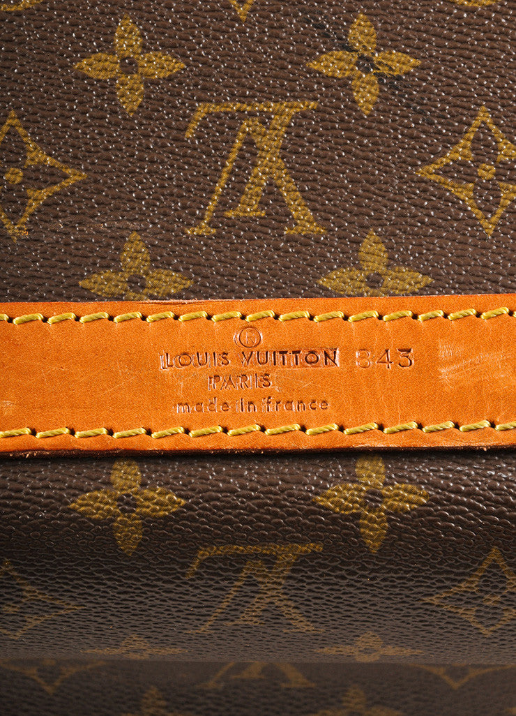 Louis Vuitton Brown Coated Canvas Monogram Hard Case Zip Duffel Bag Brand